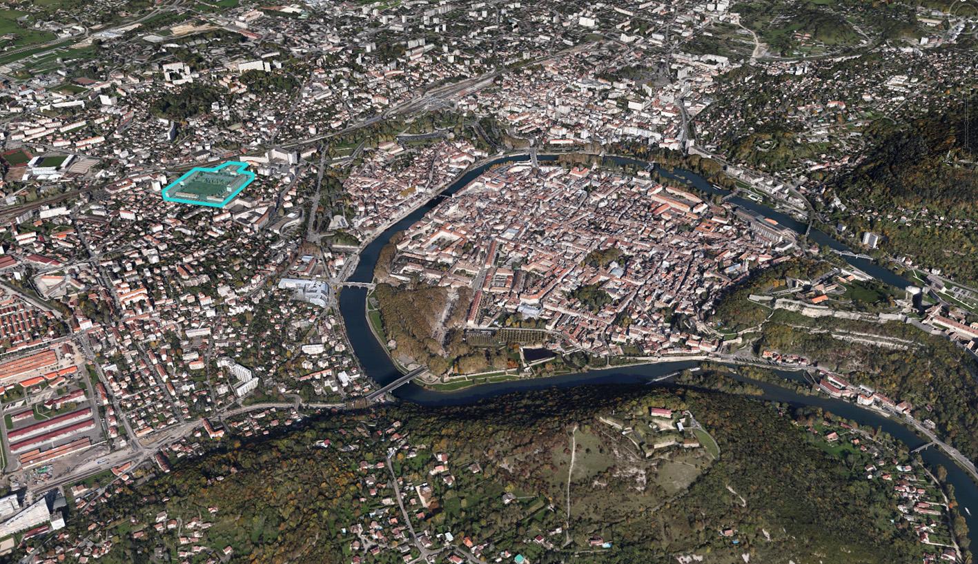 Eco quartier vauban besan on google earth - Piscine eau noire besancon ...